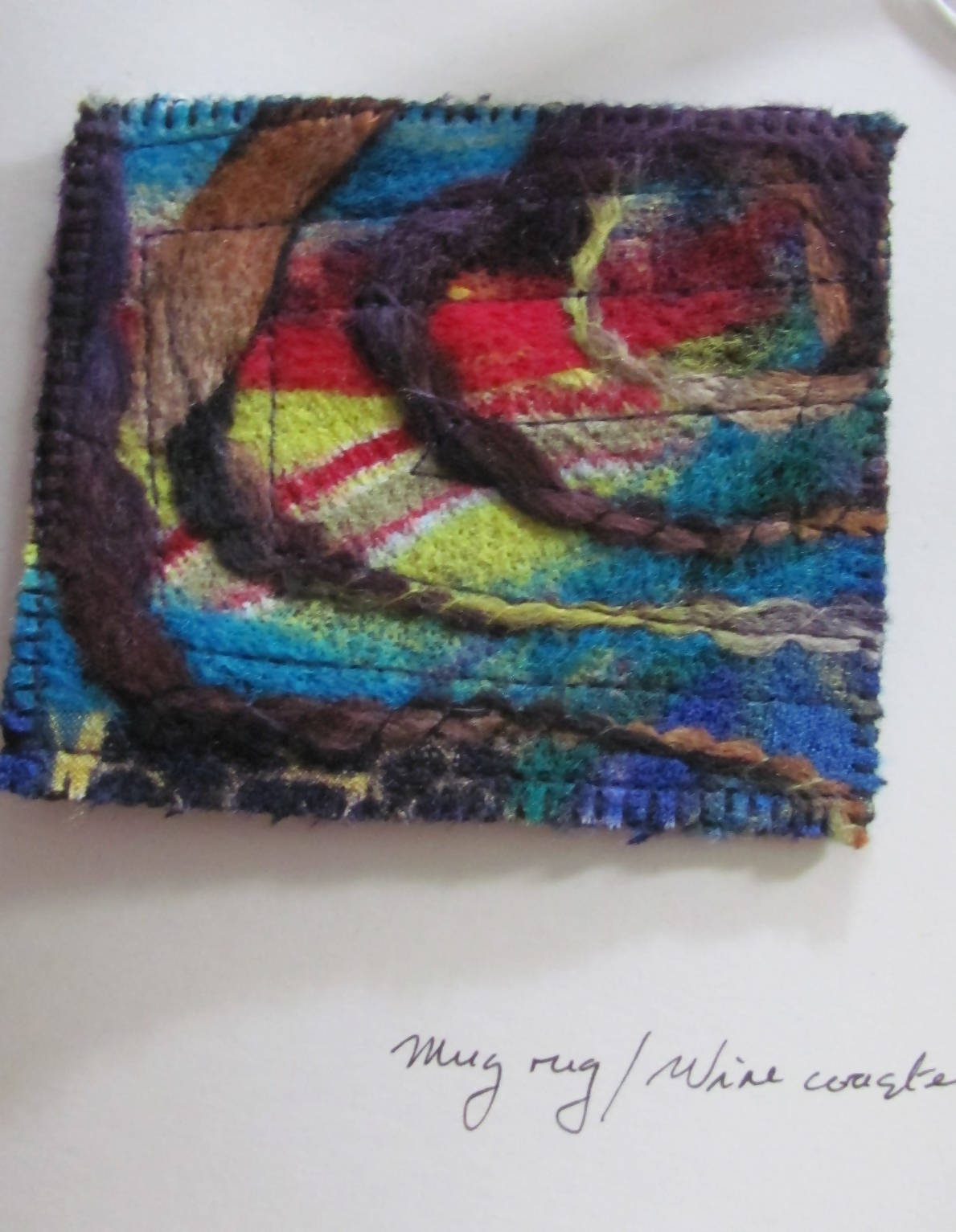 """Art-to-send -- Original mini-artwork coaster greeting card"""