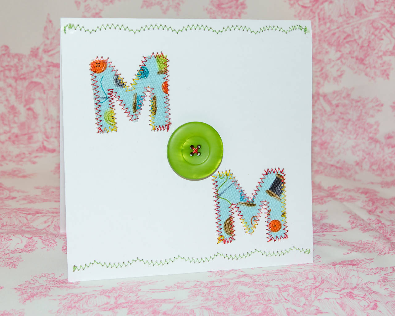 Mother's Day Greeting Card - Handmade - Buttons!