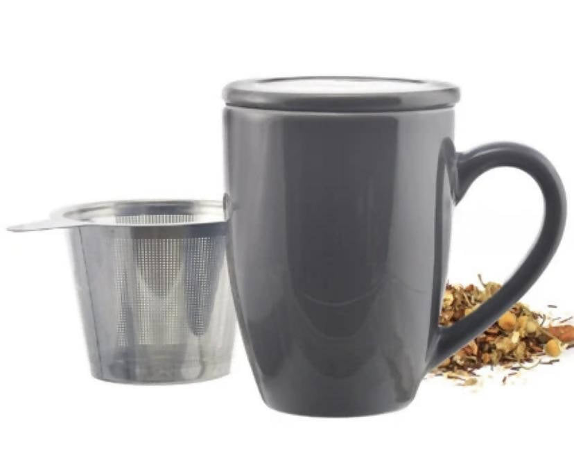 nfuser Tea Mug: GROSCHE Kassel - Grey, 330ml/11.2 fl. oz Regular price $29.99