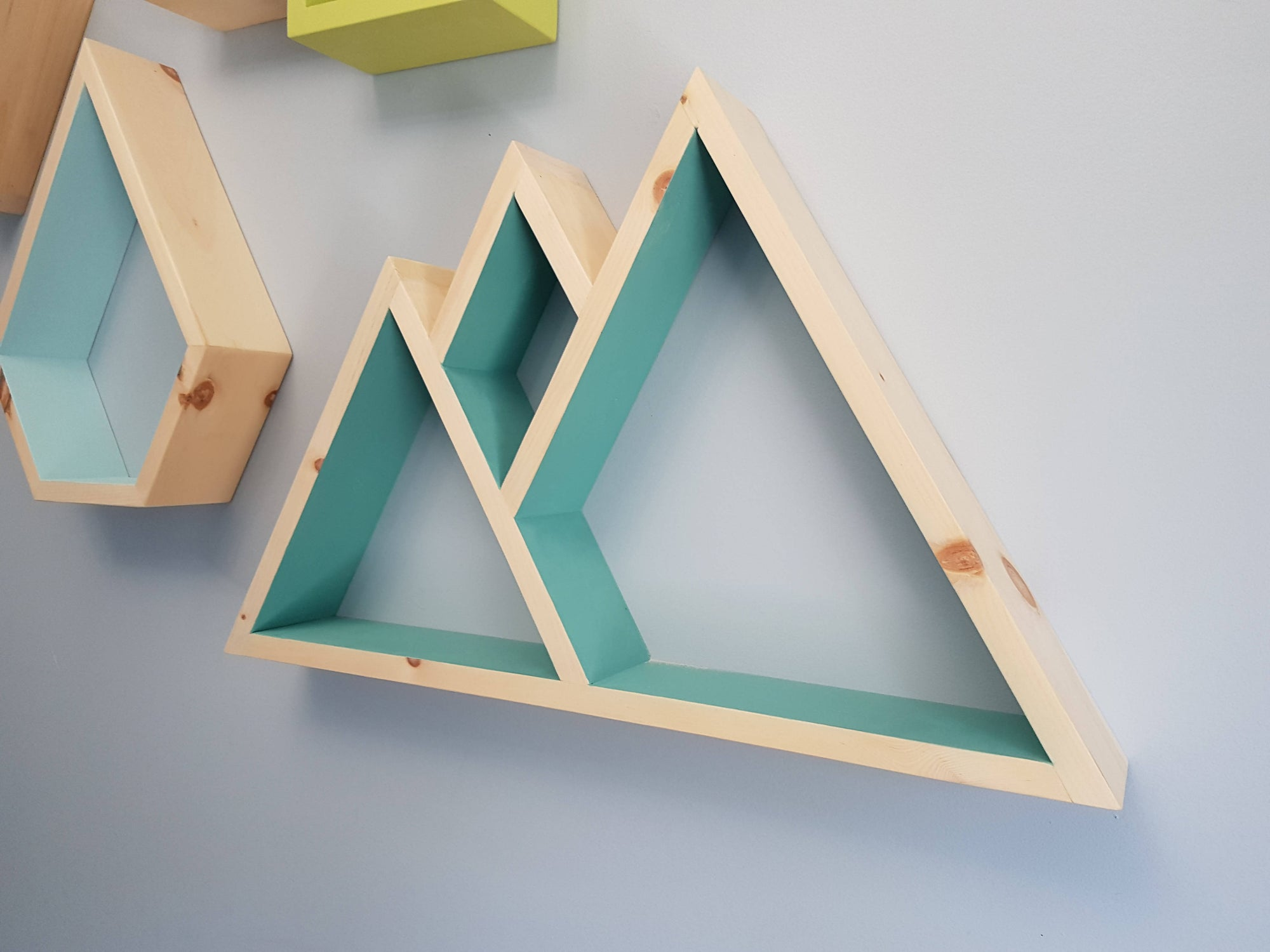 Mountain Shelf, Floating Shelve, Geometric Shelves, Mountain Shelf Decor, Essential Oil Shelf, Wood Mountain Shelf, Mountain Shelves