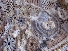 "Load image into Gallery viewer, ""Art-to-wear free-form crochet shawl"""