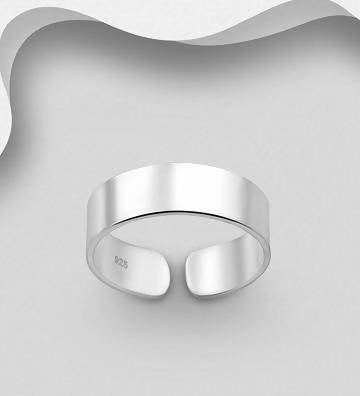 925 Sterling Silver Plain Toe Ring