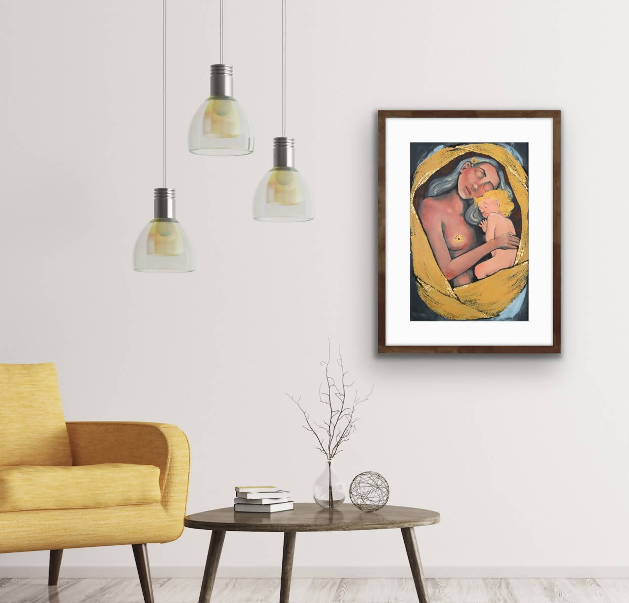 "Limited Edition Embellished Prints - ""Motherhood"" - Unique Surreal Portrait Prints"
