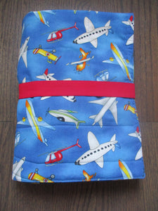 Airport Play Mat - Fold Up Travel Air Plane Play Mat Quilt With Pockets for Toy Storage