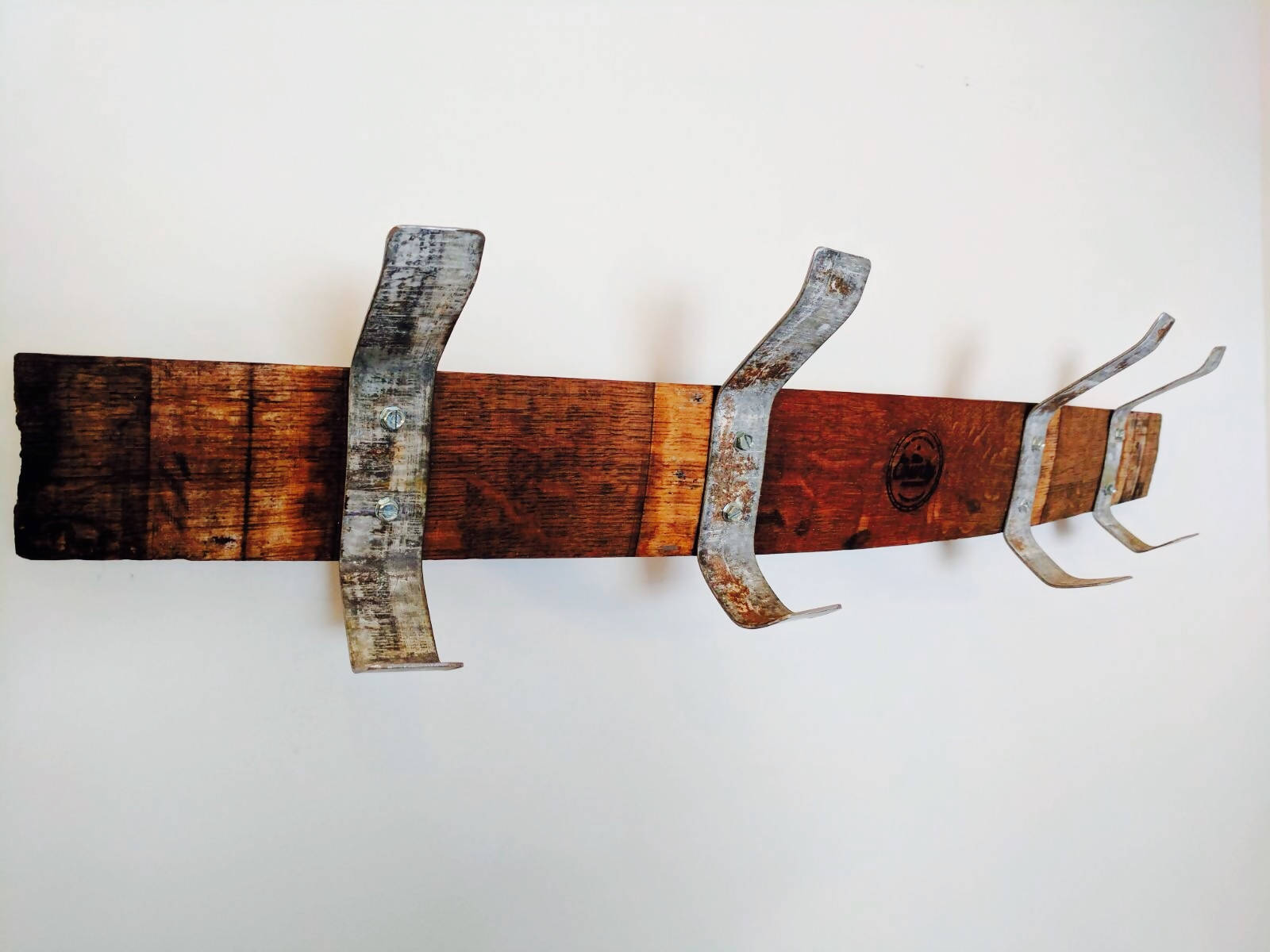 Stave Coat Rack with Hoop Hooks