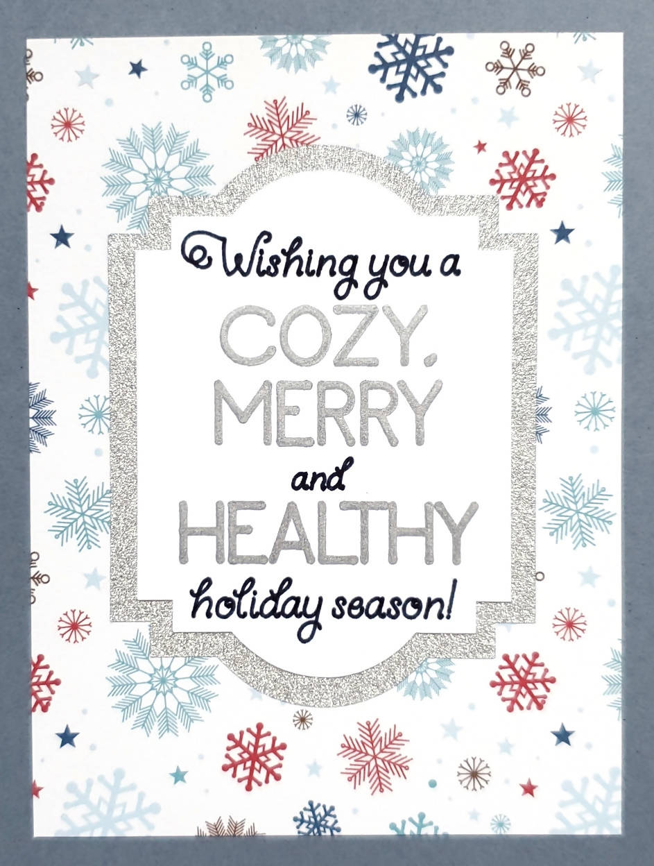 Merry and Healthy Card (Snowflakes)