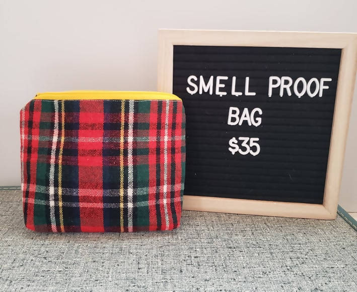 Smell-proof Cosmetic style bag red