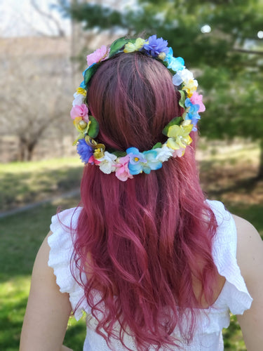 Bright Multicoloured Flower Crown