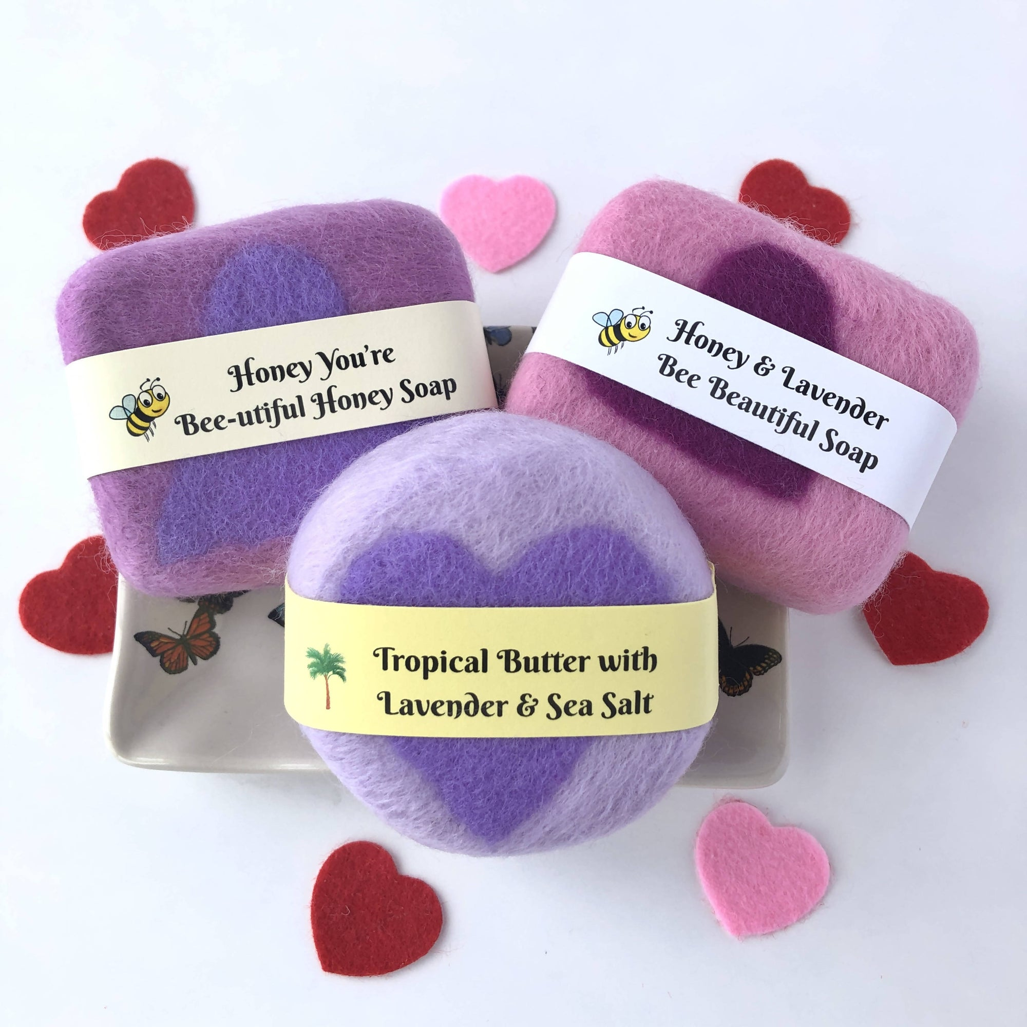 """A Heart for You"" Felt Covered Soap"