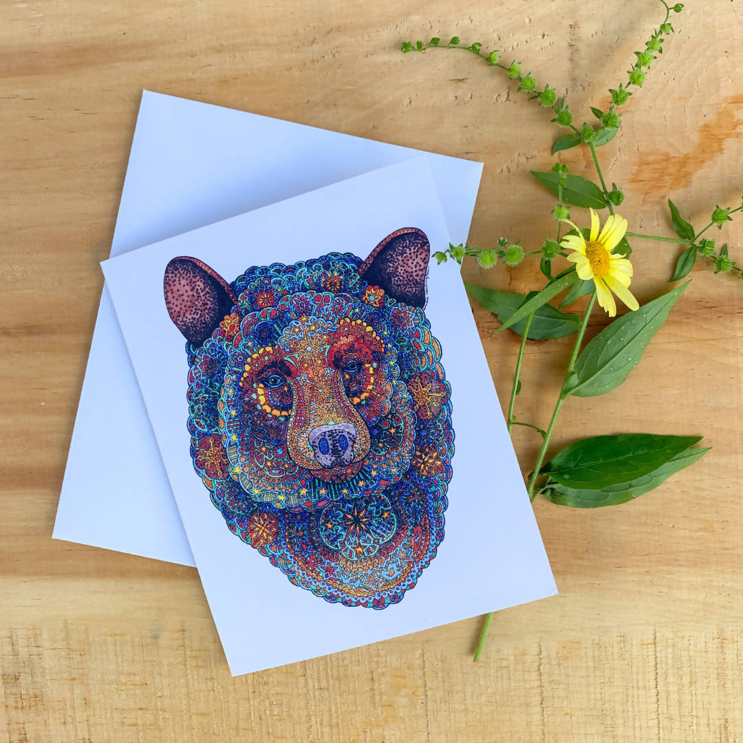 Constellation Bear Greeting Card