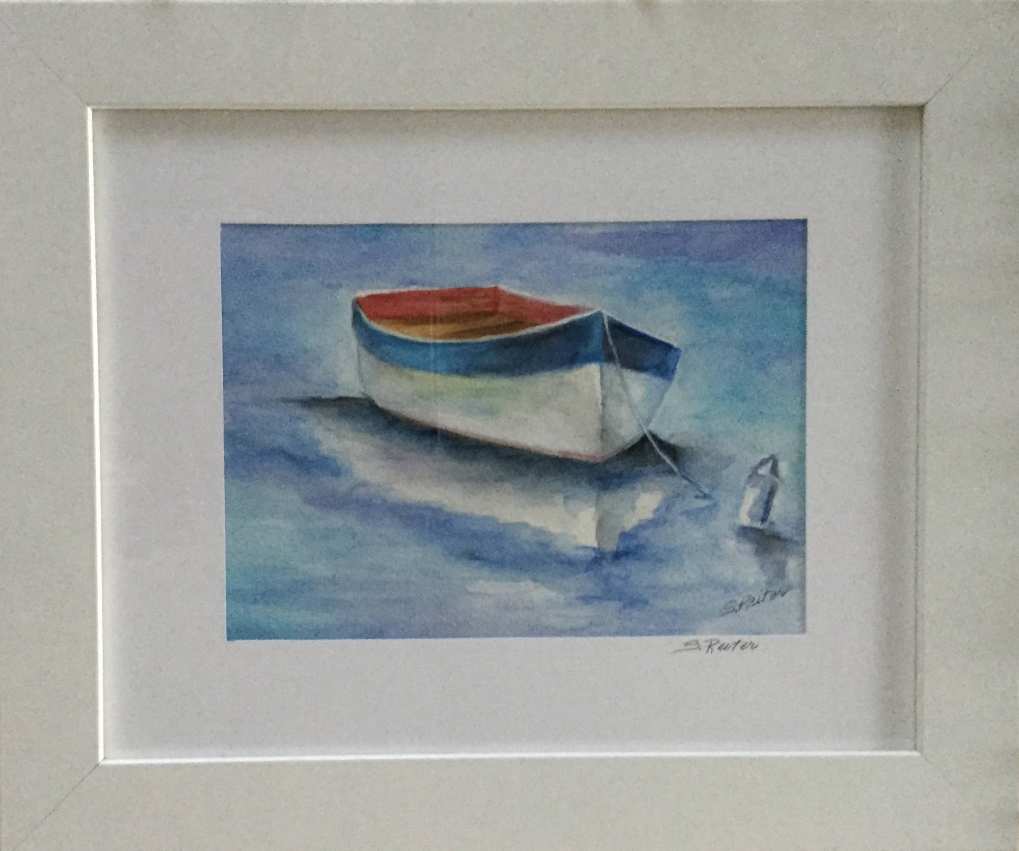 Watercolour Painting of a Dory