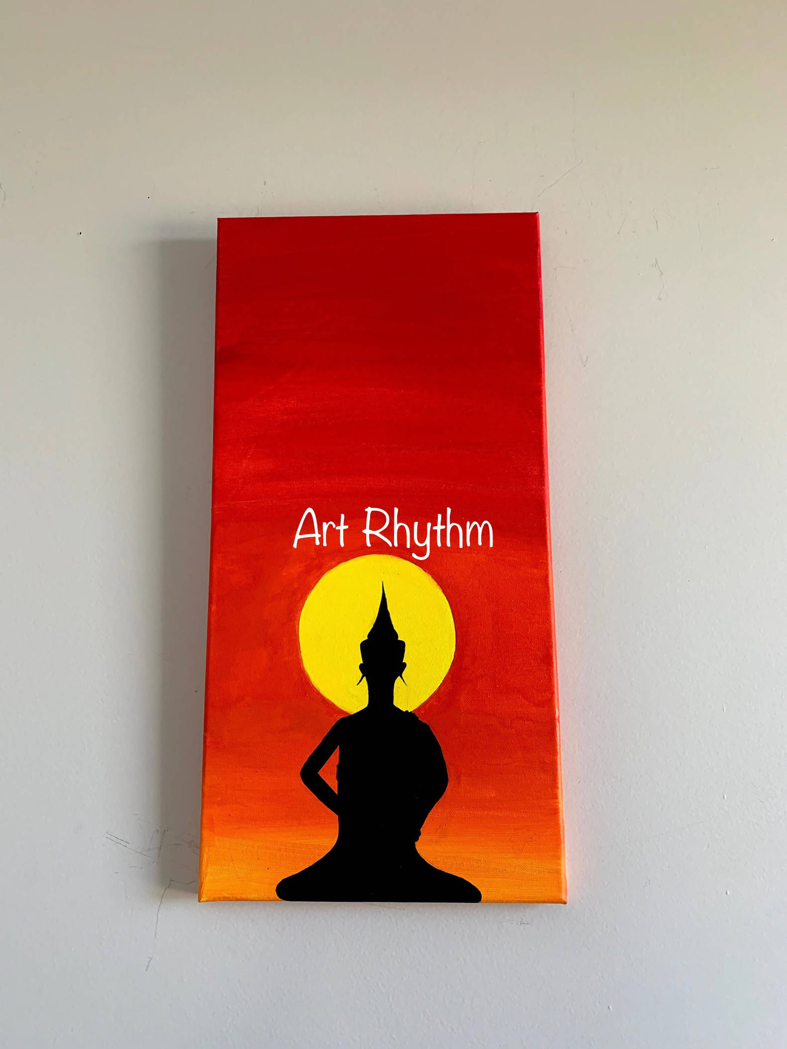Lord Buddha sunset Canvas Painting.