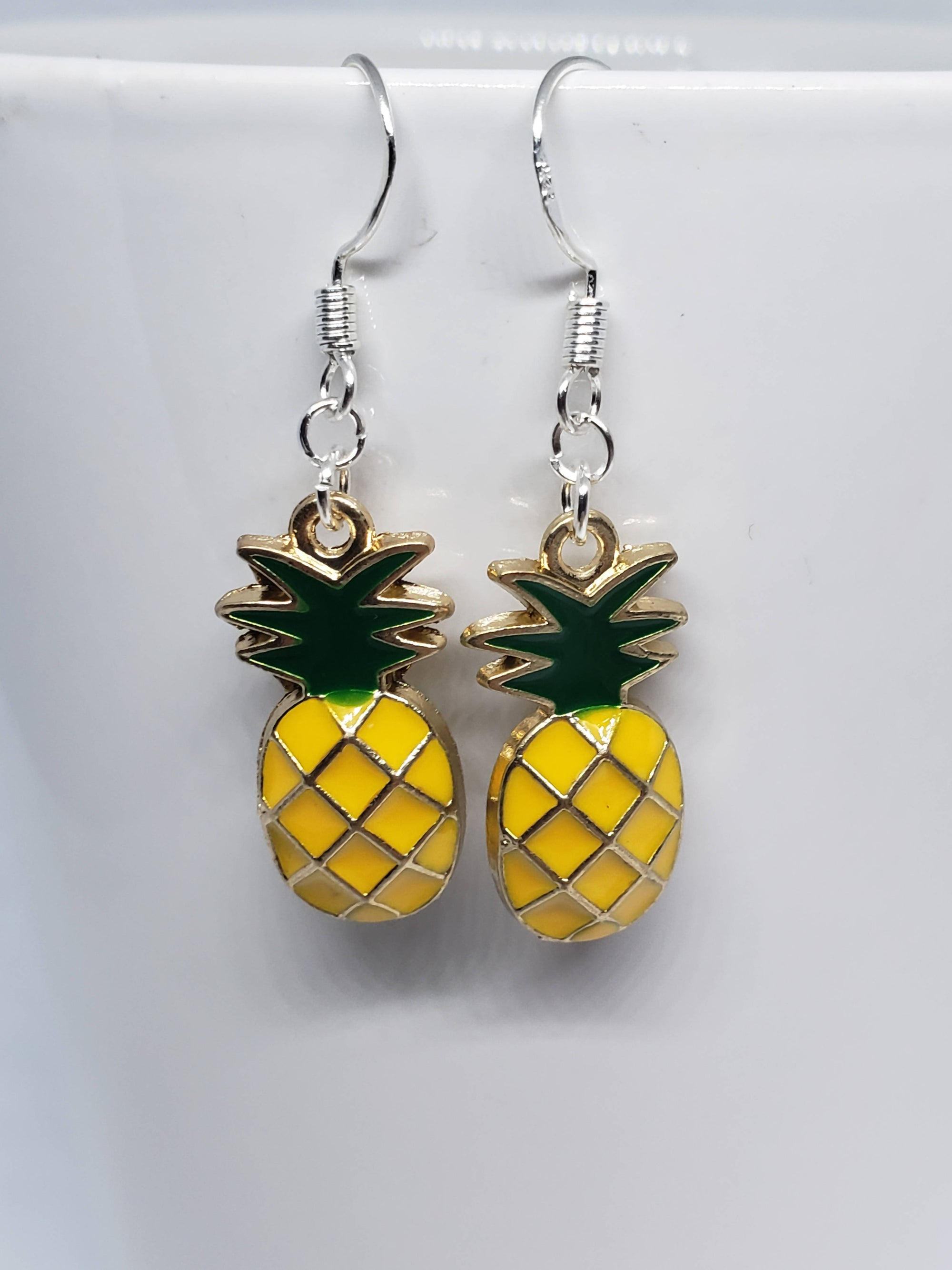 """FREE SHIPPING"" Pineapple Earrings (sterling silver)"