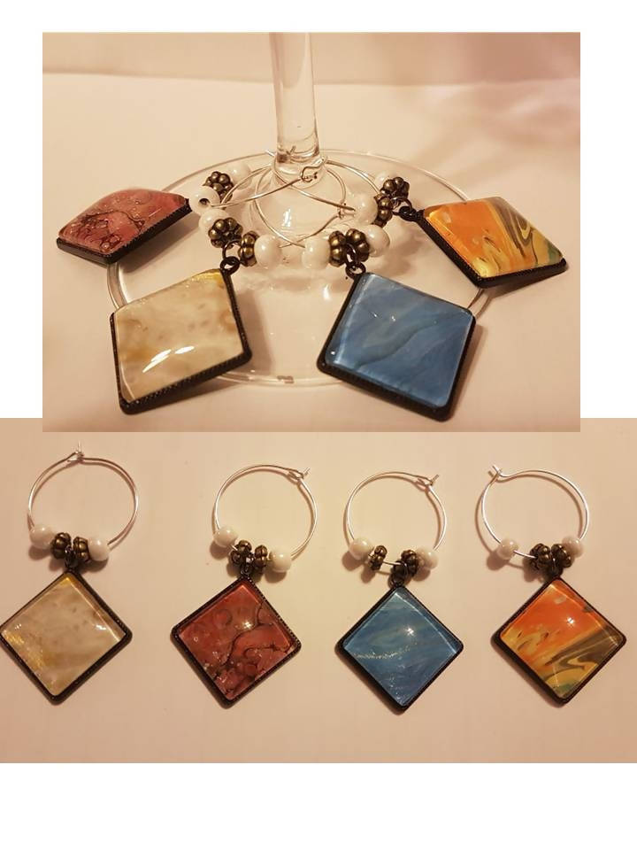Acrylic Pour Wine Glass Charms