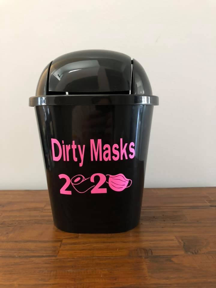 Mini Garbage pails for dirty masks