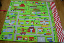 Load image into Gallery viewer, Airport Play Mat-Connectable Fold Up Travel Train Quilt With Pockets for Toy Storage