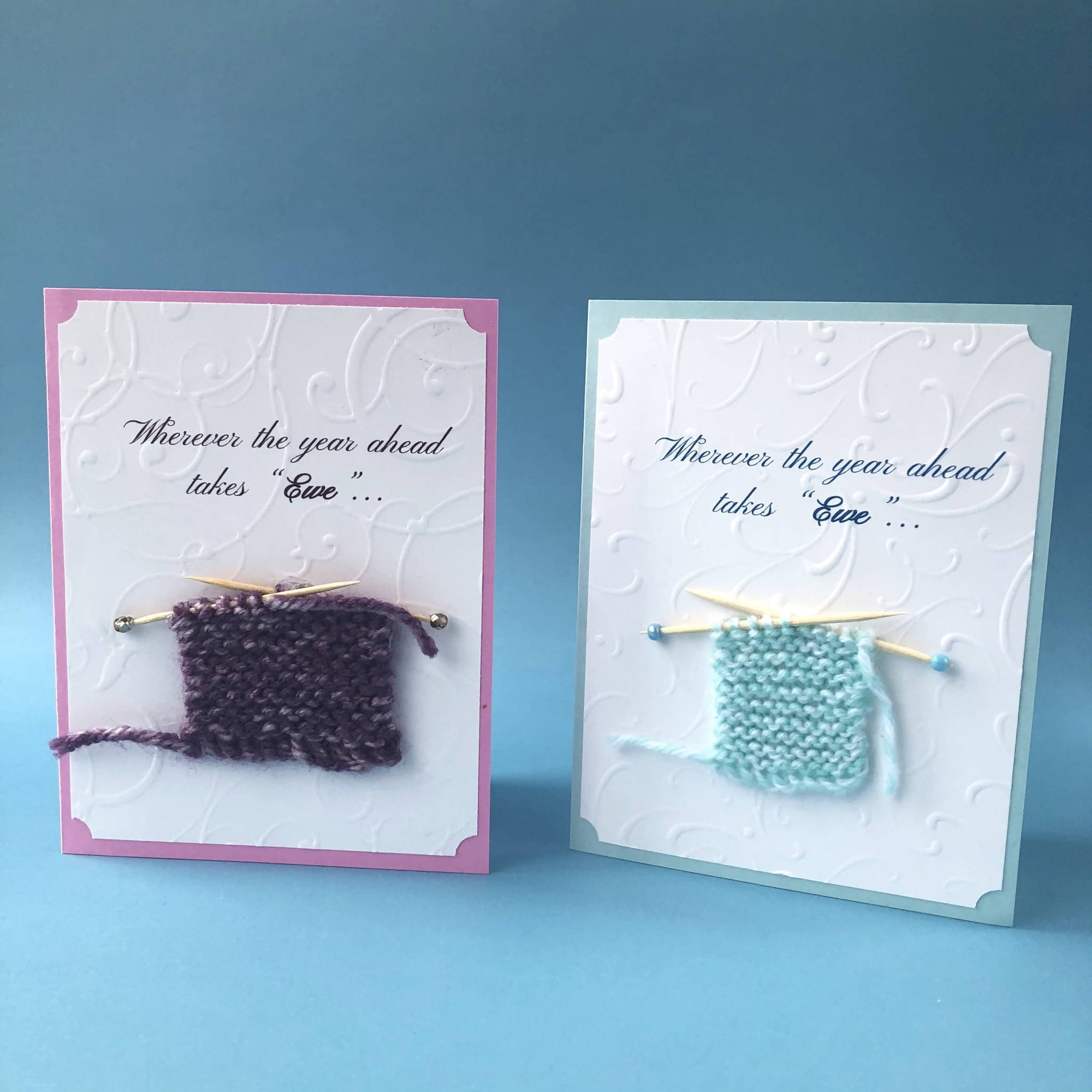 """Hand-Knit"" Wherever the year ahead takes Ewe...Card"