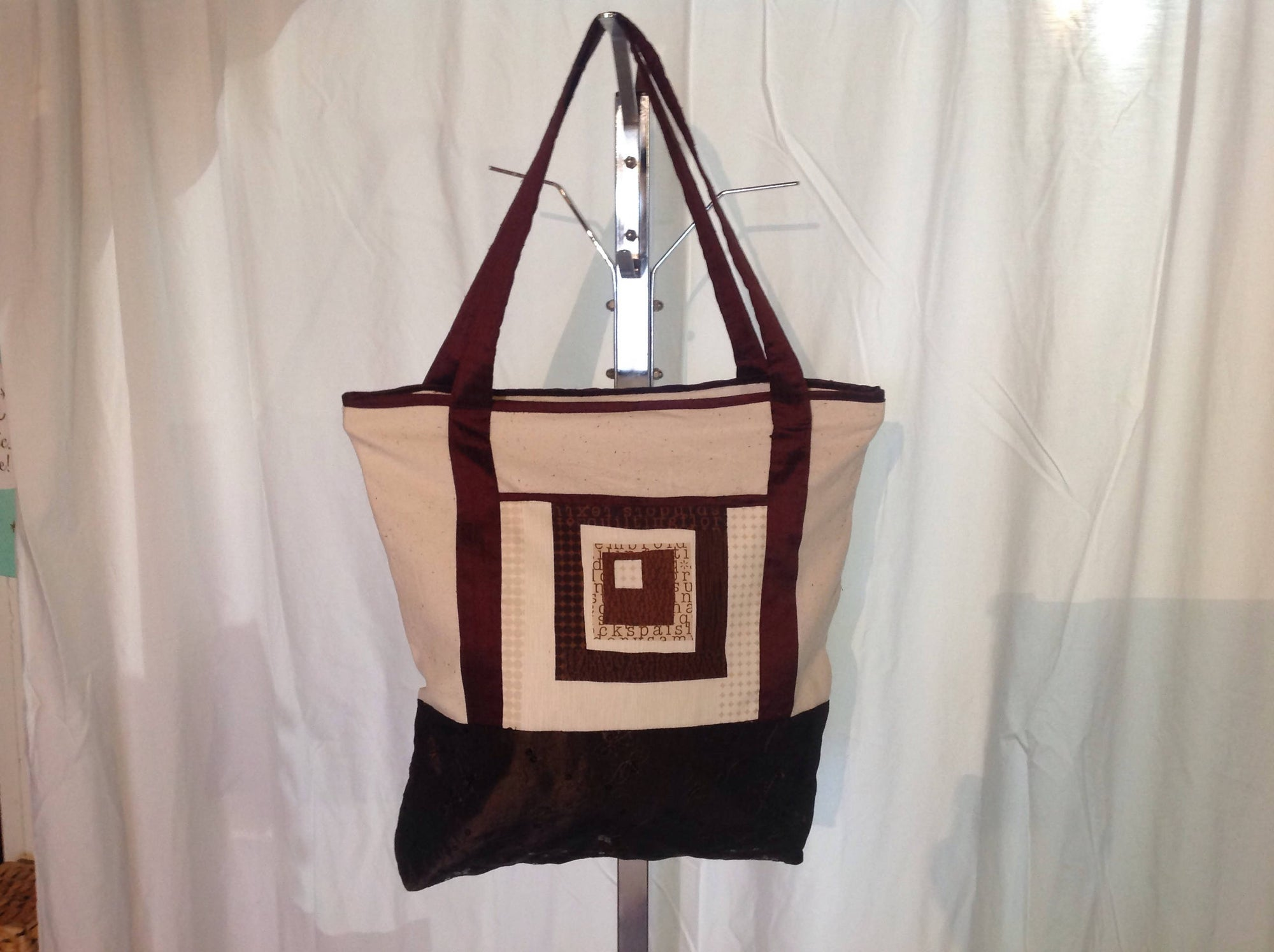 Silk and sequins tote bag