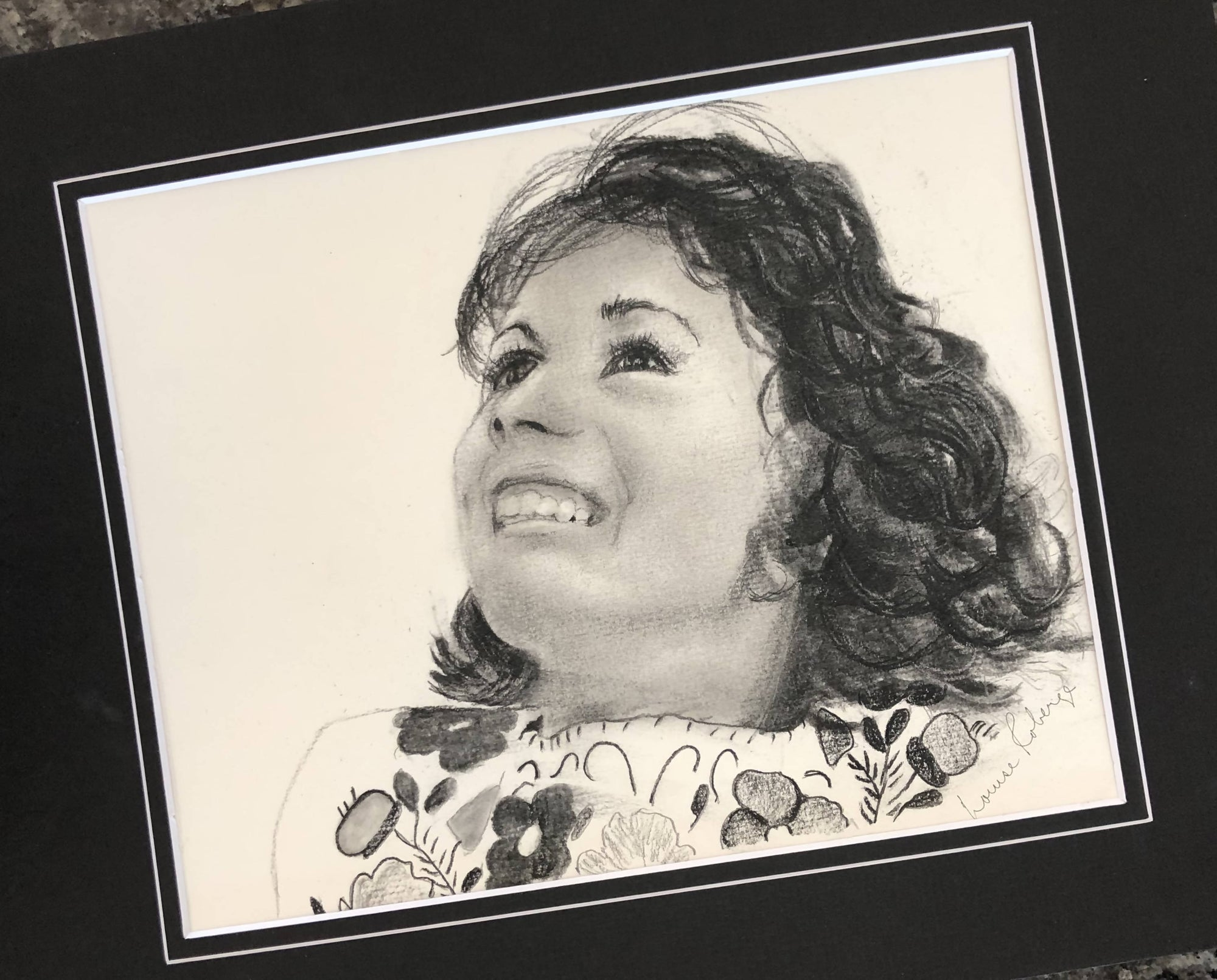 Commissioned portrait in charcoal