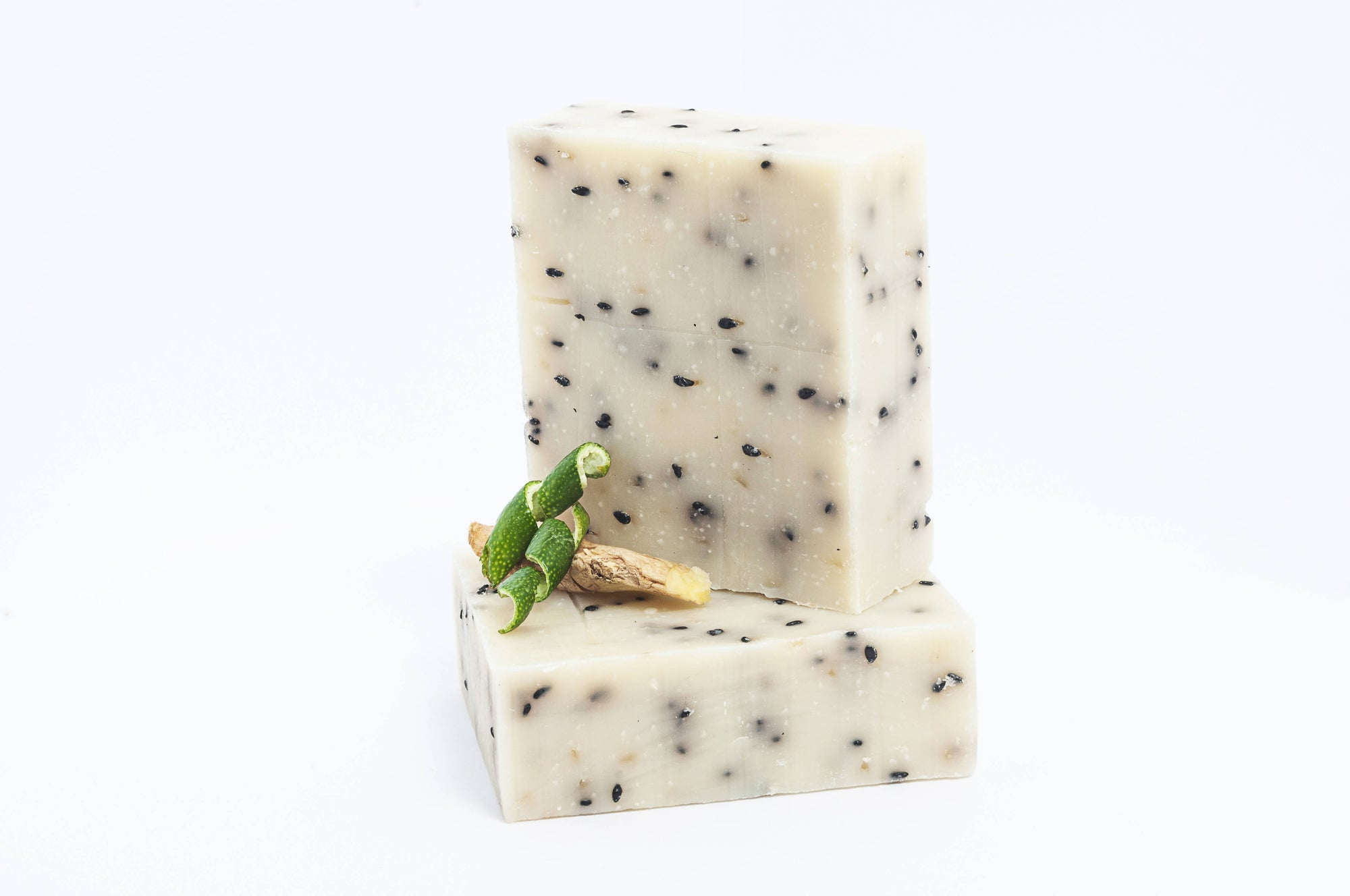 GINGER LIME SESAME BODY SOAP, VEGAN