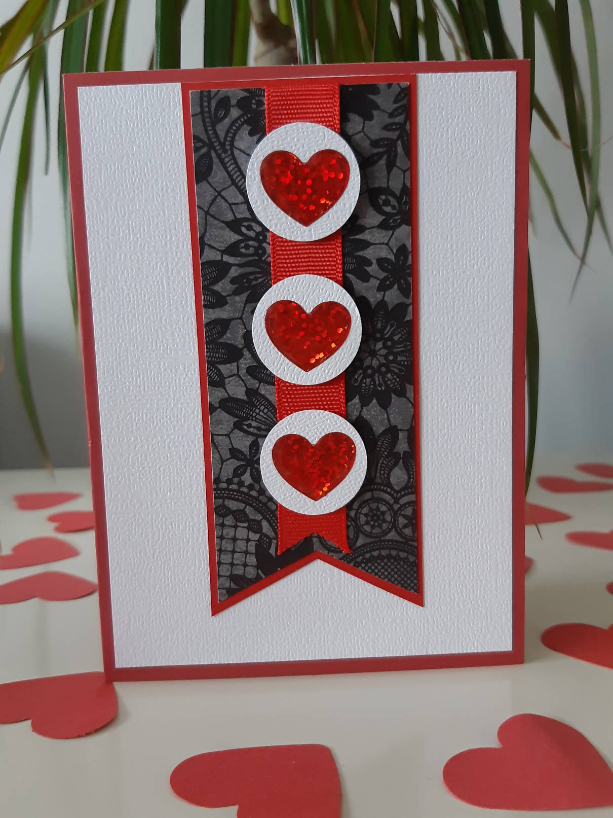 Three hearts - Greeting card