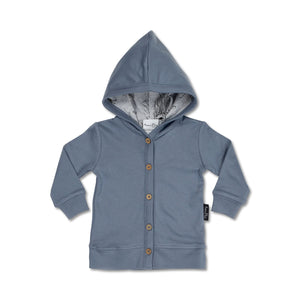 clearance Hooded Lightweight Cardigan- Navy