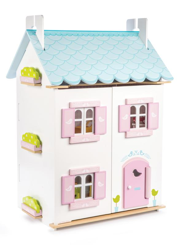 Le Toy Van Dollshouse Blue Bird Cottage Dollshouse