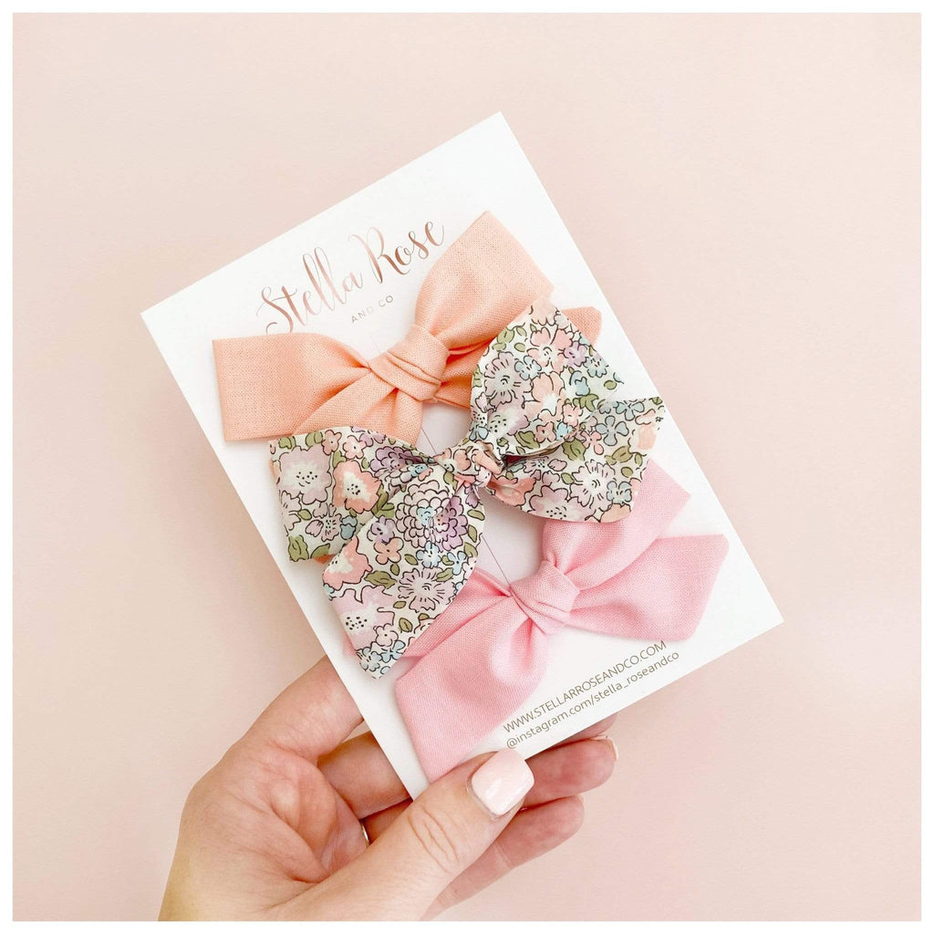 Raspberry Lane Boutique Adeline Stella Bow - Hair Clips