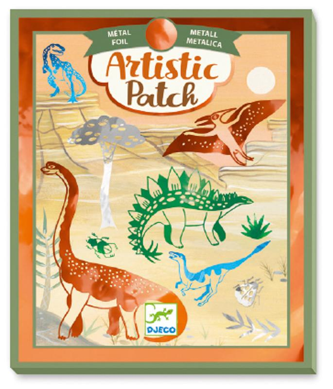 Raspberry Lane Boutique Artisitic Patch Metal Dinosaurs - Djeco