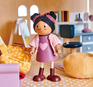 Raspberry Lane Boutique Ayana the Wooden Doll