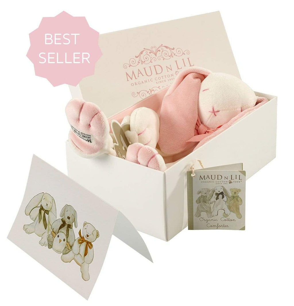 Raspberry Lane Boutique Baby Comforter gift box - Rose Pink