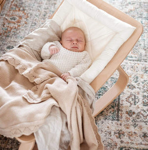 Raspberry Lane Boutique Baby Knit Blanket - Caramel