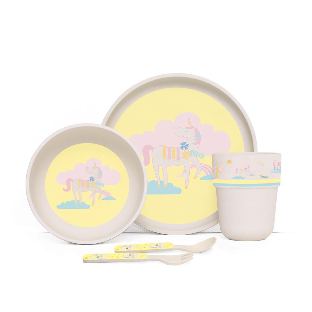 Raspberry Lane Boutique Bamboo Mealtime Set with Cutlery - Park Life