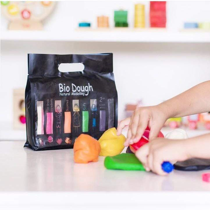 Raspberry Lane Boutique Bio Dough Natural Play Dough - Rainbow 9 Colours