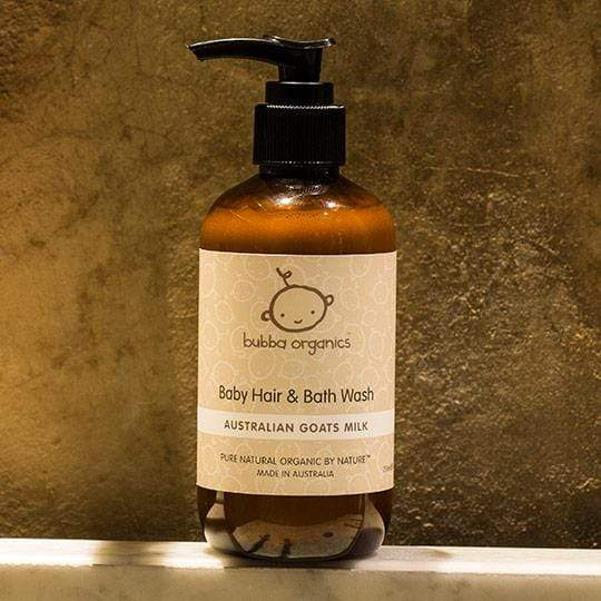 Raspberry Lane Boutique Bubba Organics - Australian Goats Milk - Baby Hair and Body Wash