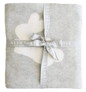 Raspberry Lane Boutique Bunnies Blanket - Grey/White