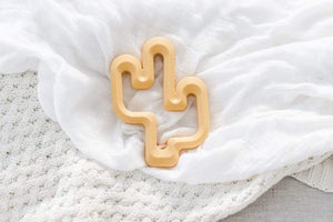 Raspberry Lane Boutique Cactus Silicone Teether - Mustard