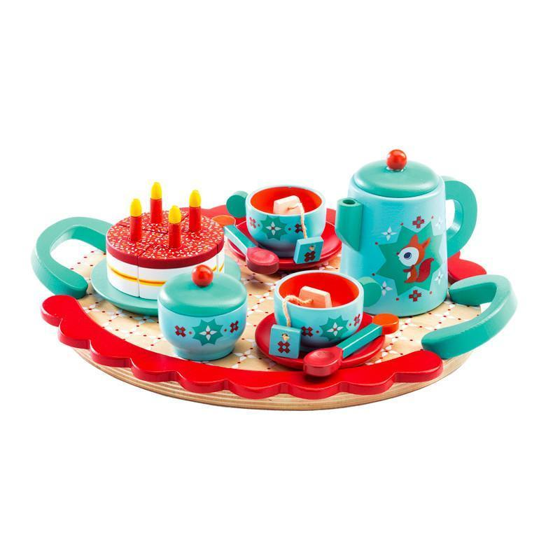 Raspberry Lane Boutique Fox's Wooden Tea Party Set - Djeco