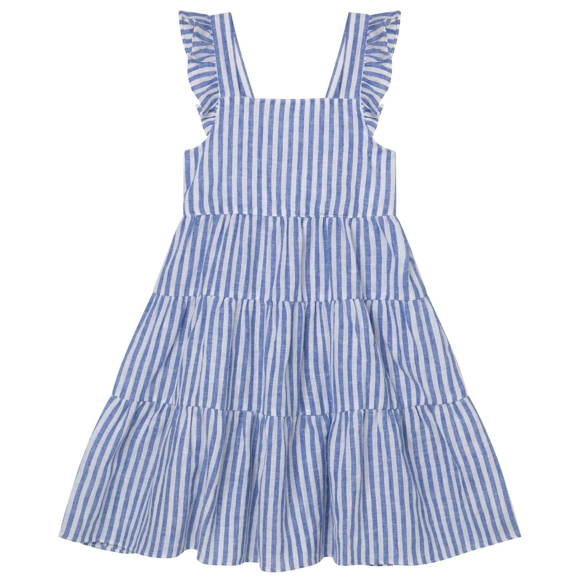 Raspberry Lane Boutique Frill Dress - Seaside Blue