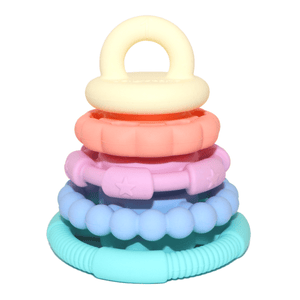 Raspberry Lane Boutique Jellystone Stacker and Teether - Pastel