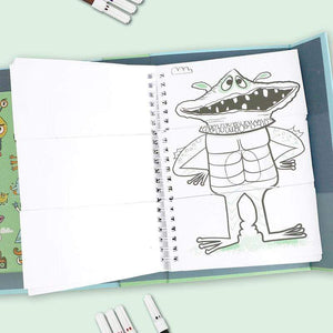 Raspberry Lane Boutique Mash-Up Colouring Set - Monster Mash