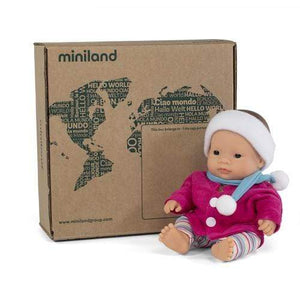 Raspberry Lane Boutique Miniland Asian Girl 21cm - With Outfit