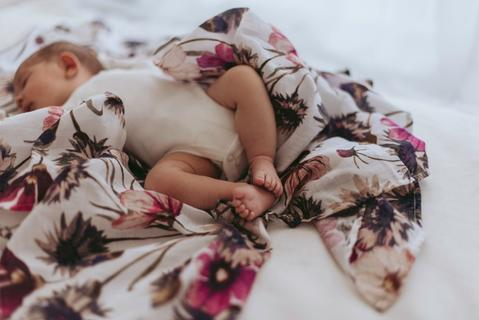 Raspberry Lane Boutique Organic Swaddle - All About Aster
