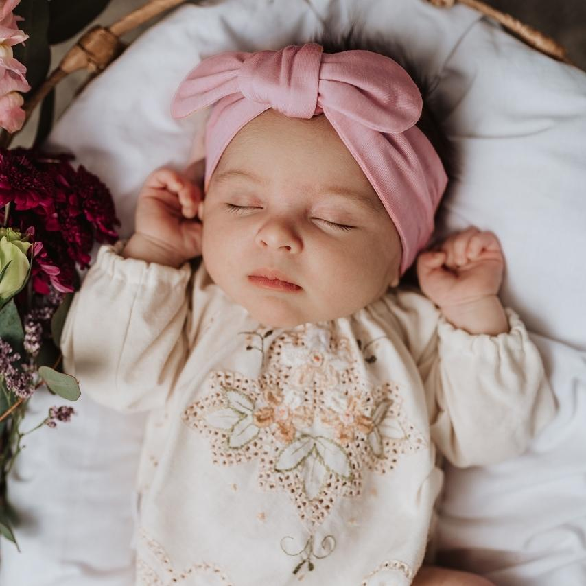 Raspberry Lane Boutique Pink Fantasy Top Knot Headband