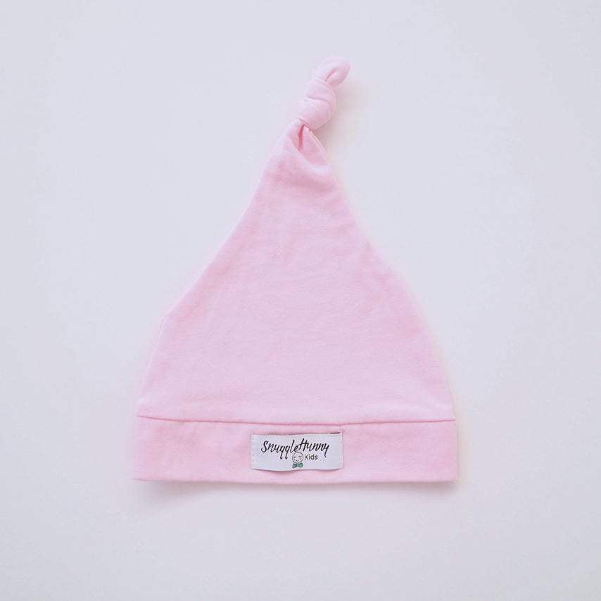 Raspberry Lane Boutique Pink Knotted Baby Beanie