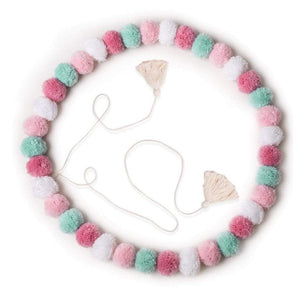 Raspberry Lane Boutique Pom Pom Garland - Confetti Pink
