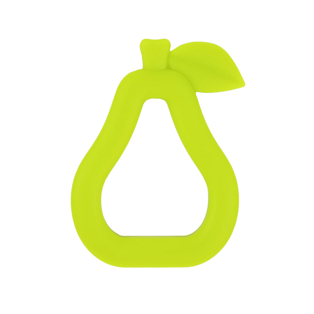 Raspberry Lane Boutique Silicone Baby Teether - Green Pear