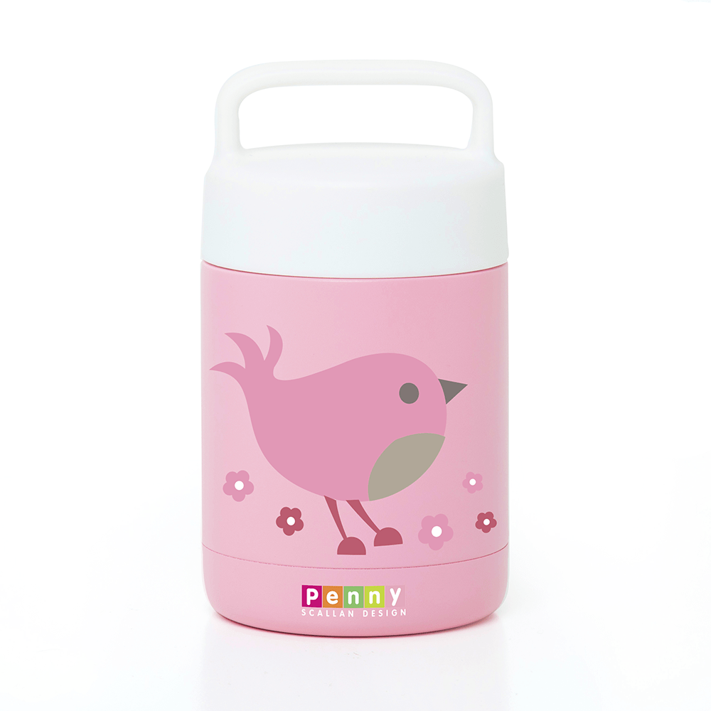 Raspberry Lane Boutique Thermal Food Jar - Chirpy Bird - Penny Scallan