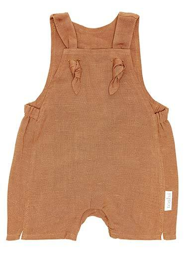Raspberry Lane Boutique Toshi Baby Romper - Pecan