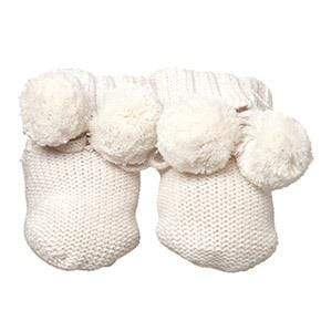 Raspberry Lane Boutique Toshi Organic Booties - Cream